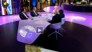 Susanna Turunen speaks to MEPs in Brussels.