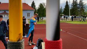 Toni keränen heitti Limingan Niittomiesten Laidunkauden avajaiskisassa 10.6.2015 75,72 m.