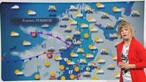 Perjantain sääkartta