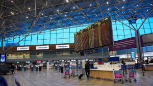 Helsinki-Vantaa lentokenttä.