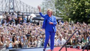 Hillary Clinton piti kampanjansa virallisen avauspuheen New Yorkissa 13. toukokuuta.
