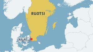 Ruotsin kartta.