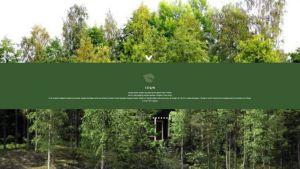 Kuvakaappaus Ecoland-yhtiön Kaavin-lomakylää markkinoivalta sivulta.