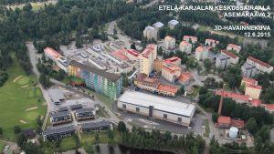 Havainnekuva Etelä-Karjalan keskussairaalan  laajennuksesta