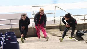 Katrin Raud ja Susa Viikari ovat valmistautuneet jo pitkään Vierumäellä viikonloppuna juostavaan Pullukka Run- juoksutapahtumaan.