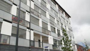 Puukerrostalo Vantaan asuntomessualueella.