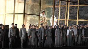 Savonlinnan Oopperajuhlien tämän kesän uutuustuotanto Boris Godunov.