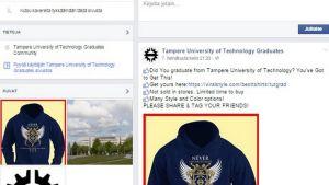 Kuva tampereen teknillisen yliopiston logon vieneestä FB-sivusta.
