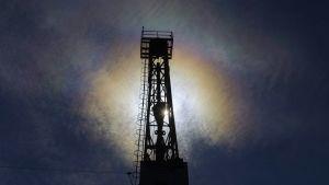 Valokuva Mol Plc`n öljykentältä Unkarista maaliskuussa 2015.
