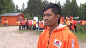 Ta-Nong Kangsuvan on yksi Kemijärven Joutsijärven koululle majoittuvista thaimaalaisista Polarican työntekijöistä.