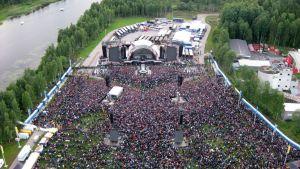 Ilmakuva konserttipaikan yläpuolelta
