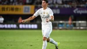 James Rodriguez tuulettaa