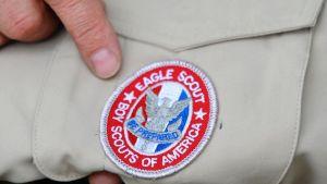 Kuvassa on Yhdysvaltain partiopoikaliikkeen Eagle Scout -merkki, joka on osoitus erinomaisesta suorituksesta mm. ensiapu-, kansalaisuus-, perhe-retkeilytaidoissa.
