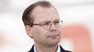 Puolustusministeri Jussi Niinistö SuomiAreena 2015 -tapahtumassa Porissa 17. heinäkuuta.