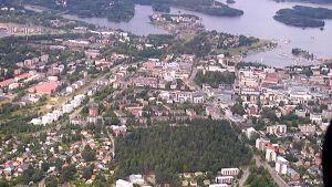 Ilmakuvassa Lappeenrannan keskusta