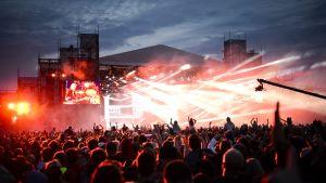 David Guetta esiintyi Weekend Festivaleila Helsingissä kesällä 2014.
