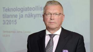 Teknologiateollisuuden toimitusjohtaja Jorma Turunen.