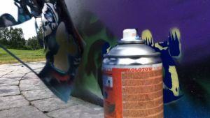 Näin syntyy sapluunagraffiti.