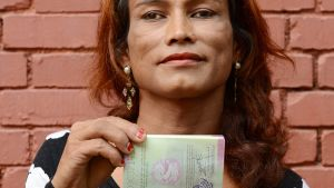 Nepalilainen Monica Shahi.