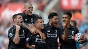 Liverpool juhli voittoa Stokesta lukemin 1–0.