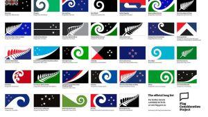 Uuden-Seelannin lippuehdokkaat.