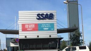 SSAB:n Raahen tehtaan portti