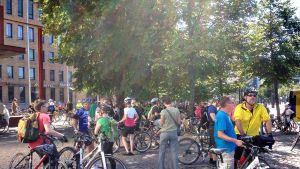 16_8 Helsinki onnettomuus polkupyörä pyörä pyöräily muistoajo