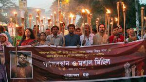 Anata Bijoy Dasin murhaa protestoivia Ganajagaran Mancha -liikkeen aktivisteja