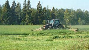 traktori, niittokone, säilörehu, heinänteko