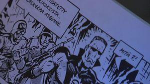 Kuva Kersantti Napalm-sarjakuvasta