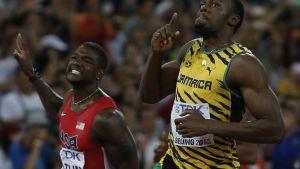 Justin Gatlin ja Usain Bolt