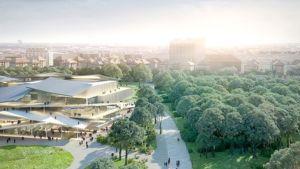 Uusi Kansallisgalleria nielaisee myös nykytaiteen museon. Arkkitehtuurikilpailun 1. sija jaettiin kahden ehdotuksen kesken.