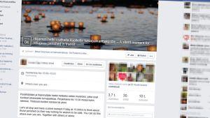Kuvakaappaus Facebookin sivusta.