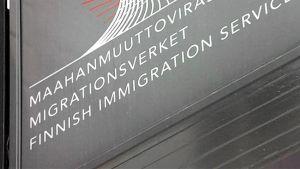 Maahanmuuttoviraston kyltti.