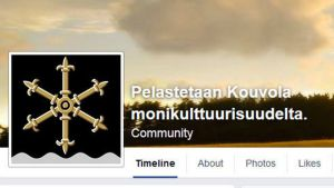 Kuvakaappaus Pelastetaan Kouvola monikulttuurisuudelta -ryhmän Facebook-sivuilta
