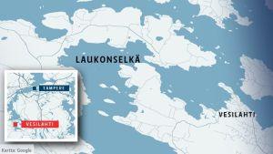 Vesilahden Laukonselkä kartalla