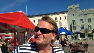 Marko Jantunen Lahden torilla.