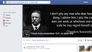 kuvakaappaus facebookista