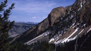 Vuorenrinne Yellowstonen luonnonpuistossa