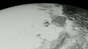 Still-kuva Nasan tekemästä Pluto-animaatiosta