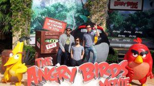 Kuvassa Angry Birds -elokuvan ääninäyttelijöitä lehdistötilaisuudessa Meksikossa kesäkuussa 2015.