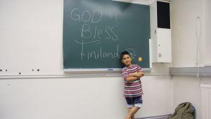 Viisivuotias Mahier Ahmed saapui Suomeen isänsä kanssa.
