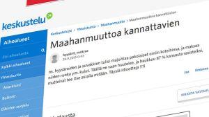 Kuvakaappaus suomi24 -keskustelupalstalta.