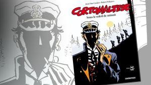 "Corto Maltesen uuden sarjakuva-albumin ""Sous le soleil de minuit"" -kansi."