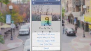 Kuvankaappaus Facebookin tekemästä esittelyvideosta, jossa esitellä profiilivideo-ominaisuutta.