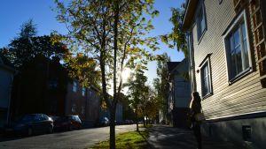 Hanna Sjöberg ihastelee vanhoja vaasalaisrakennuksia.
