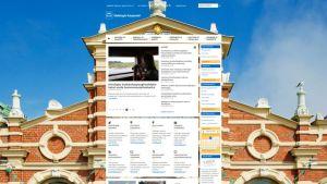 Helsingin kaupunki sai ICANN-järjestöltä oikeuden käyttää .helsinki –osoitetta. Kuva on kuvankaappaus Helsingin kaupungin nettisivuista.