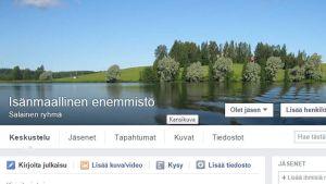 Kuvakaappaus Facebook -ryhmästä
