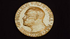 Rauhan nobel-palkintomitali.