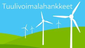 Tuulivoimahankkeet -infografiikka